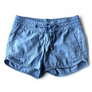 Prana Blue Drawstring Shorts Size 2